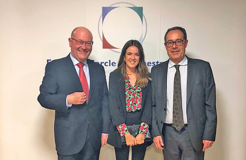 Francesc X. Ventura, Laura Córcoles y Pere Macias