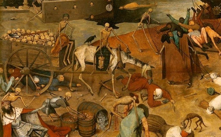 La peste bubónica, triunfo de la muerte (1562)